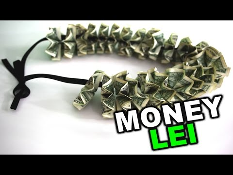 How To Make A Money Lei For Graduation Or Wedding Gift Diy Tutorial