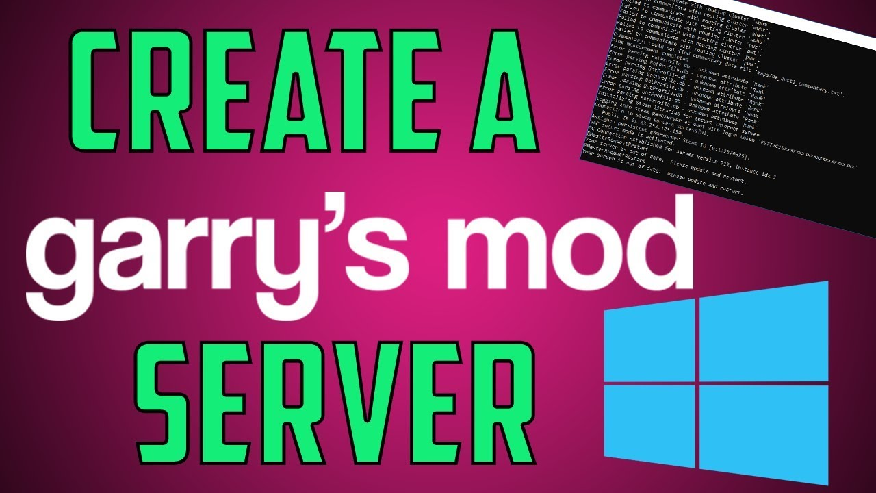 Create a Garry's Mod Server on Windows