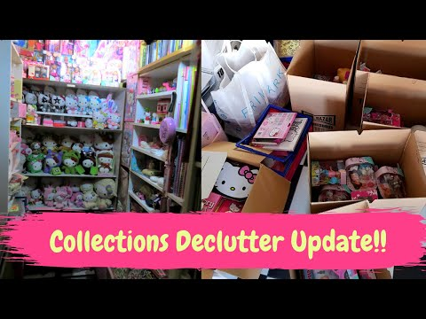 Collections Declutter Update! (Letting go of Hello Kitty, and more room for my other collections!)