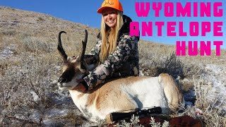 My First Antelope! Wyoming Women's Antelope Hunt 2019 with Azyre