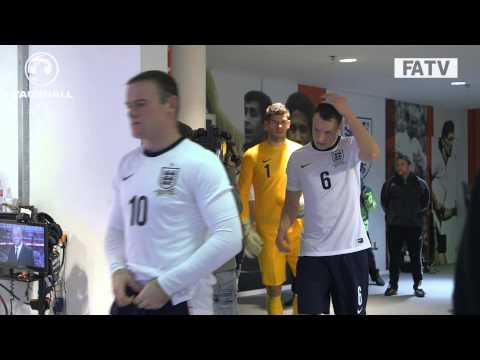 TUNNELCAM: England vs Chile 0-2 at Wembley