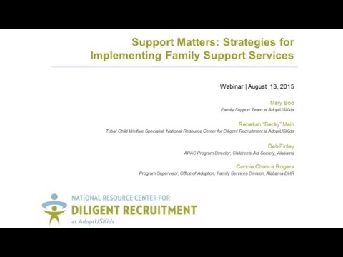 Support Matters: Strategies for Implementing Family Support Services