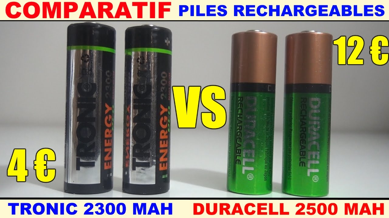 duracell vs tronic comparatif piles rechargeables test d charge lente youtube. Black Bedroom Furniture Sets. Home Design Ideas
