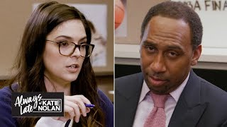 Gambar cover Katie Nolan quizzes Stephen A., Jalen Rose and more on the NBA Finals   Always Late with Katie Nolan