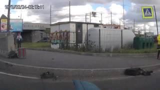ДТП с мото 27 06 17 на Обводном канале