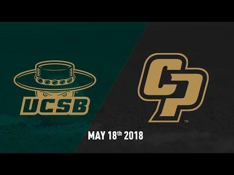 Cal Poly vs. UC Santa Barbara, Baseball Highlights -- May 18, 2018