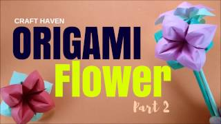 Origami Flower - How To Make A Paper Flower - Origami Easy Tutorial for Beginners by Craft Haven