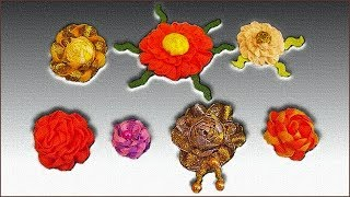 Цветы из тесьмы. Цветы из ленты. Цветы для декора. Цветы своими руками. (Flowers of the braid)