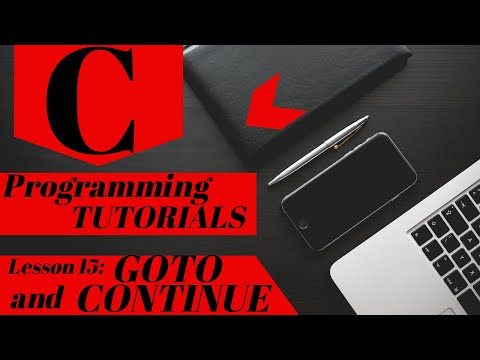 C Programming Tutorial | Lesson 15 | CONTINUE and GOTO Statements thumbnail