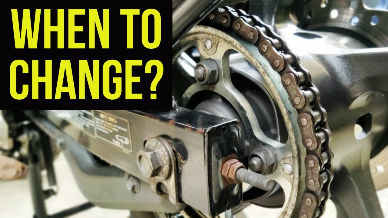 When to change your motorcycle CHAIN SPROCKET (3 simple ways)