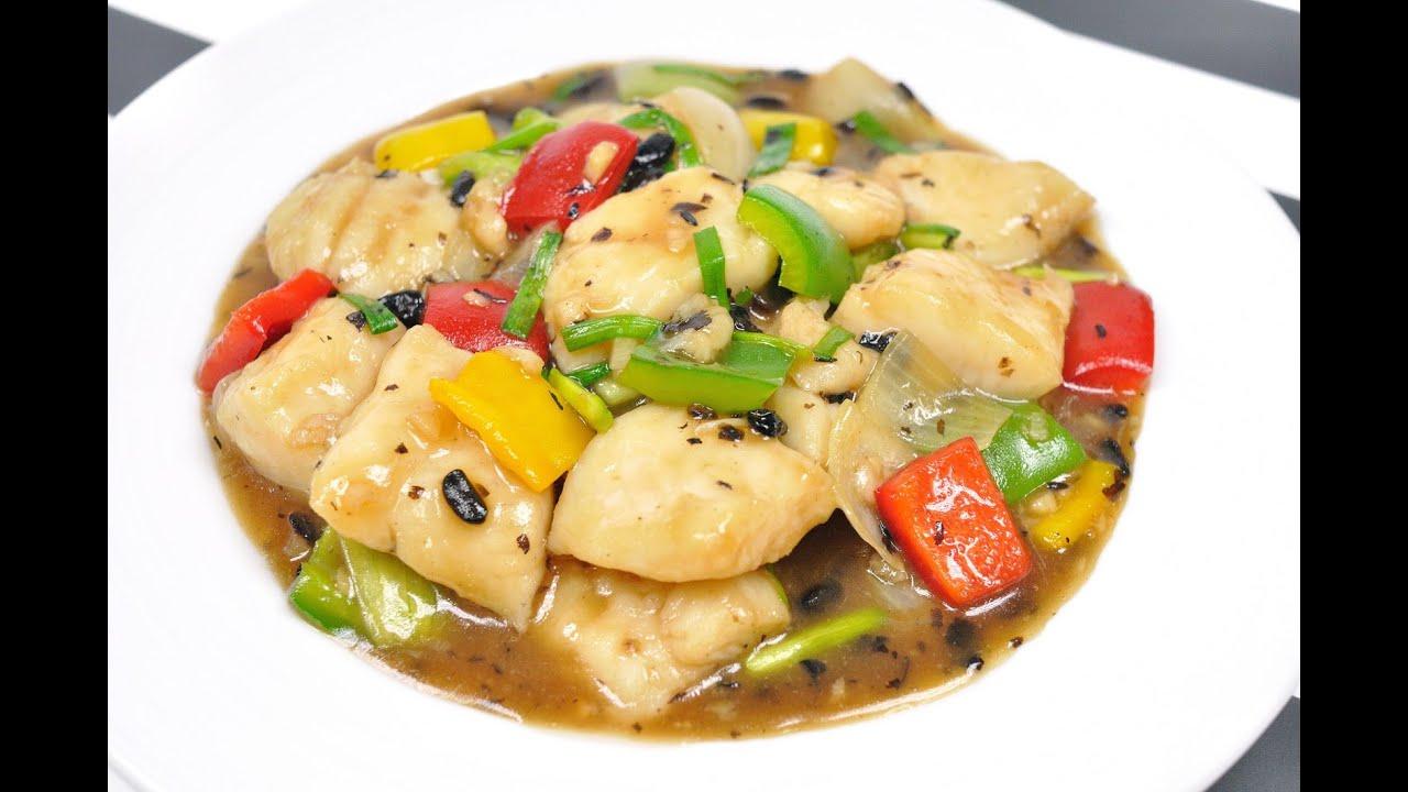 Stir fried fish with black bean sauce thai food pla for Fish in black bean sauce