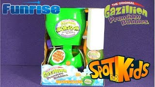 spot for kids the original gazillion monsoon premium bubbles machine