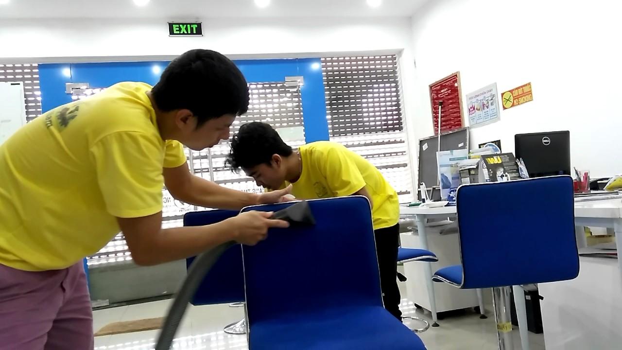 Giặt Ghế Sofa bằng hơi nước nóng cho ngân hàng SCB Tây Sơn 0966966700