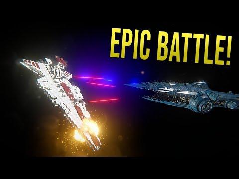 MALEVOLENCE vs REPUBLIC VENATOR FLEET (Clone Wars EPIC battles) - Space Engineers