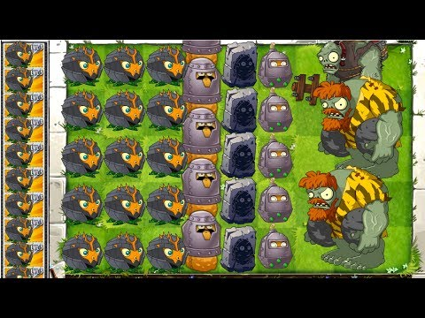 Military MAX LEVEL POWER-UP! vs GARGANTUAR in Plants vs Zombies 2