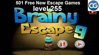 [Walkthrough] 501 Free New Escape Games level 255 - Brainy escape 9 - Complete Game