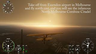 Landing on the Melbourne Citadel in Microsoft Flight Simulator