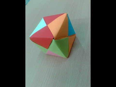 How To Make a origami 3d cube - paper cube easy