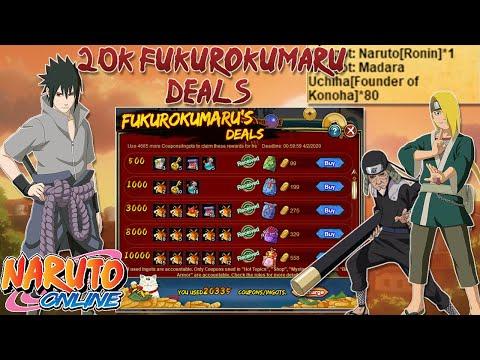 I'M OFFICIALLY A MADARA MAGNET - 20k Fukurokumaru Deals | Naruto Online