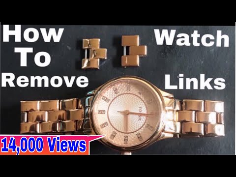 How to remove FOSSIL watch links/how to repair size adjestment