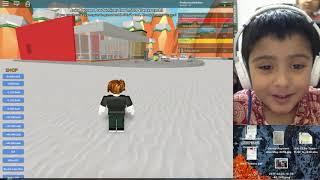 Video Game Boy Pradyumna playing roblox McDonald