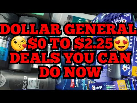 DOLLAR GENERAL DEALS YOU CAN DO NOW MAN & WOMEN $0 To $2.50