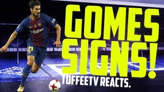 ANDRE GOMES SIGNS FOR EVERTON | TOFFEE TV REACTS
