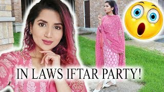 HOSTING IFTAR FOR THE IN LAWS | DAILY RAMADAN VLOG
