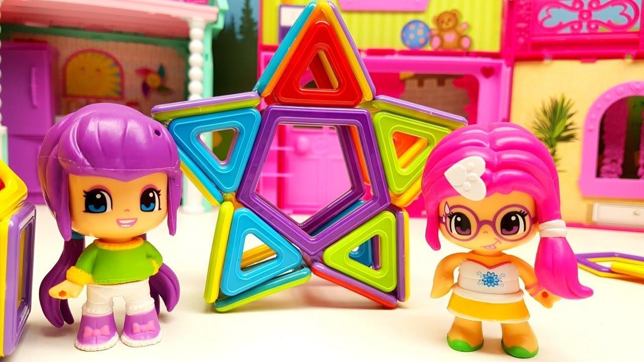 MAGNET MAGICO per creare le figure fantastiche con bambole PINYPON, giochi per bambini 😻😊