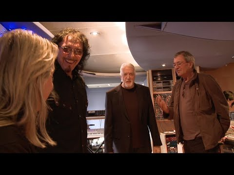 Tony Iommi (Black Sabbath), Ian Gillan, Jon Lord (Deep Purple) & Nicko McBrain In Studio