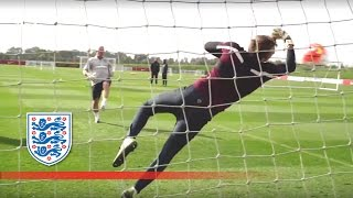 Good Hands From England U21s Goalkeepers | Inside Training