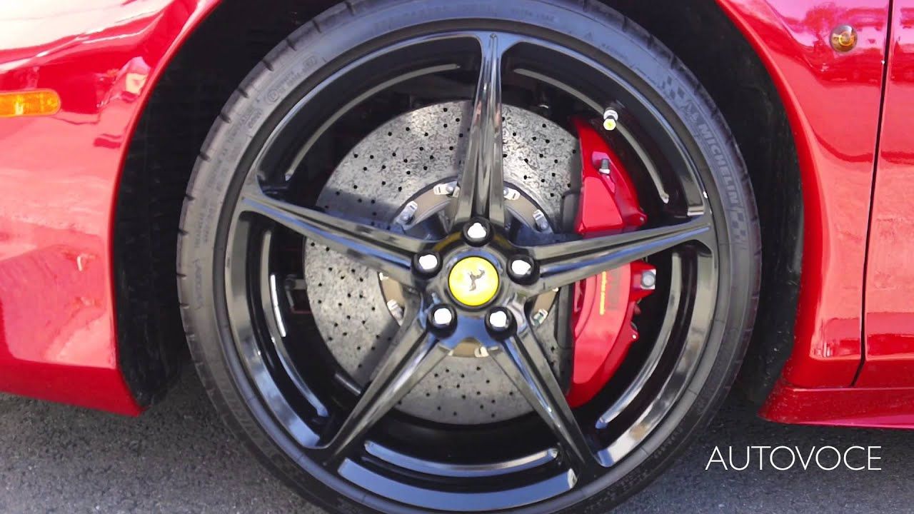 red ferrari 458 italia with black roof and black custom wheels walk around - Ferrari Enzo Black Rims