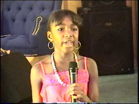 10 yr. old DeAdria Brown singing His Eye Is On The Sparrow