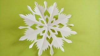 Hướng dẫn cắt bông hoa tuyết cho lễ Giáng Sinh kiểu 4