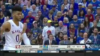 Oklahoma Vs Kansas | 2016-17 Big 12 Men's Basketball Highlights