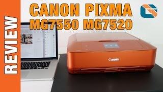 Canon Pixma MG7550 MG7520 Demo & Review