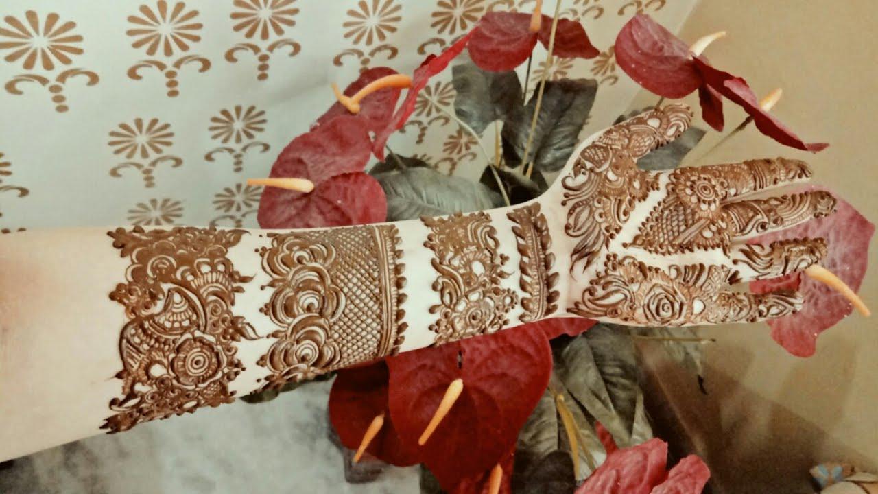 Khaleeji Henna Mehndi Design : Khaleeji henna design youtube