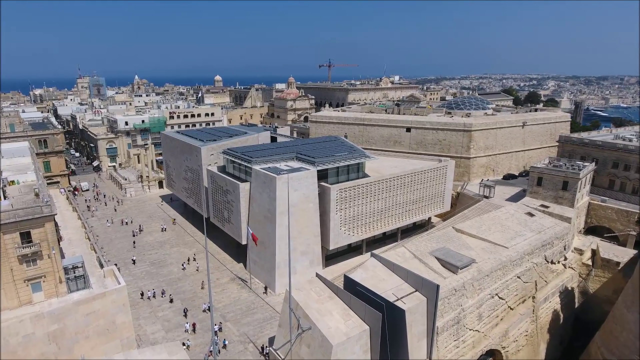 renzo piano malta parliament building youtube