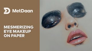 Mesmerizing eye makeup on paper | MET DAAN