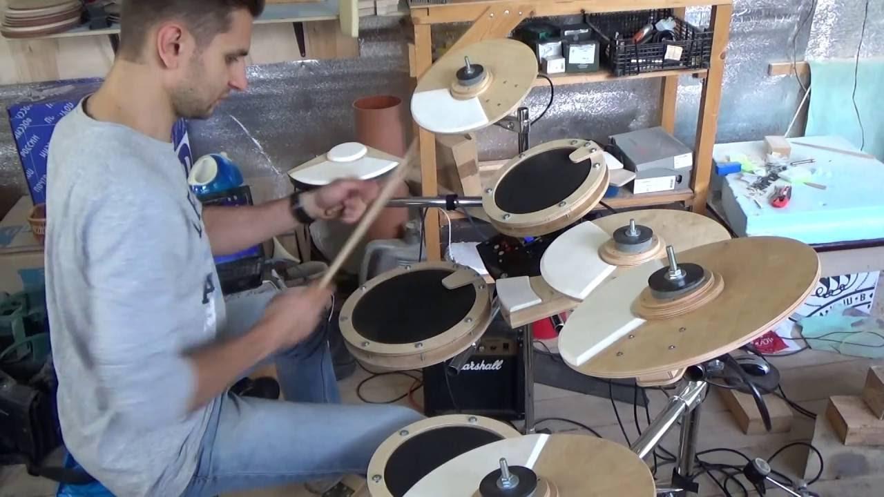 DIY electronic drum set - YouTube