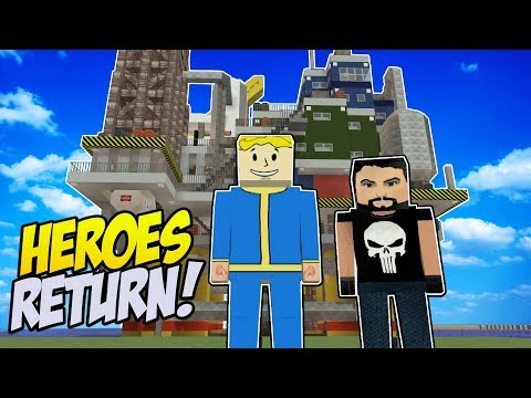 Heroes Return to CLEAN UP the CORRUPTED City! - Voxel Turf Gameplay