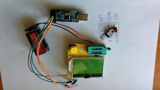 Ta'mirlash transistor bu capacitor ishlab chiqarish va RUS tiliga menyu tarjima keyin tester