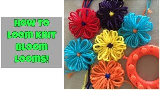 How to loom knit a flower (bloom looms) - very easy!