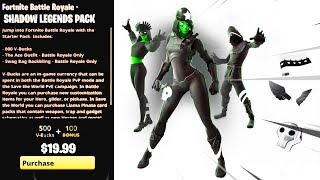 LES NOUVELLES LÉGENDES DE L'OMBRE PACK À FORTNITE! (SHADOW LEGENDS SKIN BUNDLE à FORTNITE) PACK DE LÉGENDES DE L'OMBRE