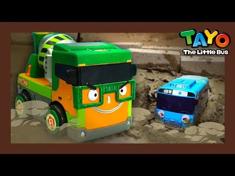 Tayo sank into cement! l Tayo Heavy Vehicles Squad l Tayo the little bus