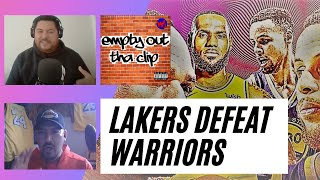 EMPTY OUT THA CLIP: Lakers defeat the Warriors with Ash Stunnenberg