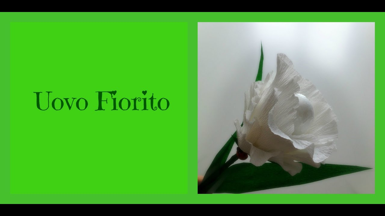 pasqua: uovo decorato con fiore di carta (fai da te) - arte per te ... - Uova Di Pasqua Fai Da Te Carta