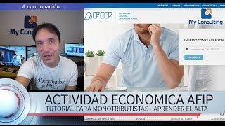 Скачать Como Dar De ALTA Una Actividad Económica AFIP Tutorial Para Monotributistas