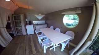 Camping les 2 Vallees_ Safari tente_ vezac dordogne