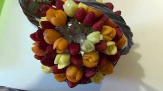 Фруктовые тюльпаны с клубникой - рецепт